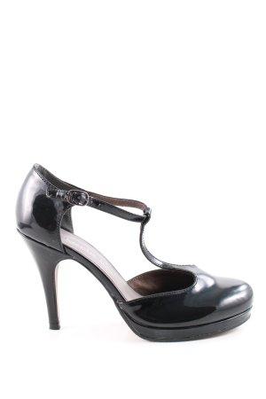 Tamaris T-Strap Pumps black casual look