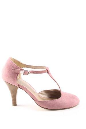 Tamaris Décolleté con cinturino a T rosa stile professionale