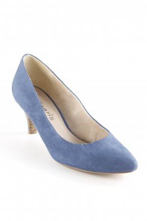 Tamaris T-Steg-Pumps blau Business-Look