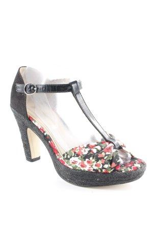 Tamaris Zapatos de tacón con barra en T estampado floral estilo sencillo