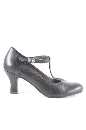 Tamaris Zapatos de tacón con barra en T negro Estilo años 50
