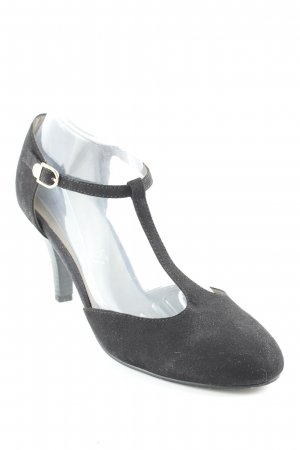 Tamaris Zapatos de tacón con barra en T negro elegante