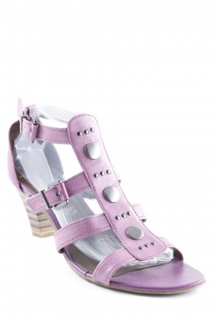 Tamaris T-Strap Sandals lilac-silver-colored business style