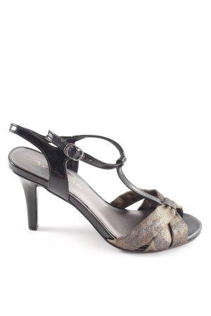 Tamaris T-Strap Sandals black-bronze-colored elegant