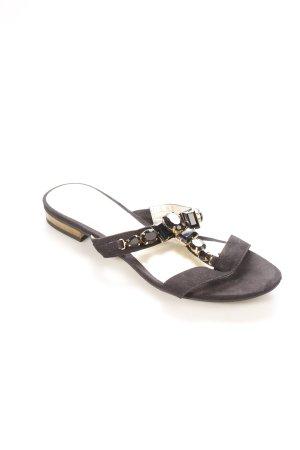 Tamaris T-Steg-Sandaletten schwarz-goldfarben Eleganz-Look