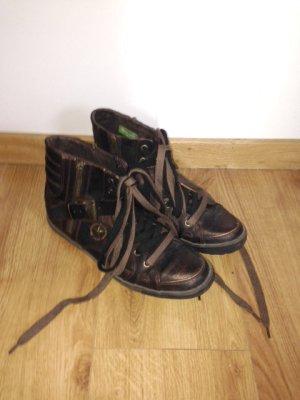 TAMARIS - tolle High-Sneaker im Vintage-used-Look