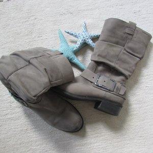 Tamaris Buskins light grey leather