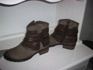 Tamaris Trend Boots Gr.38 Farbe Braun wie Neu! Leder