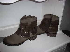 Tamaris Ankle Boots grey brown leather
