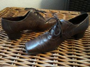 Tamaris Richelieu brun foncé cuir