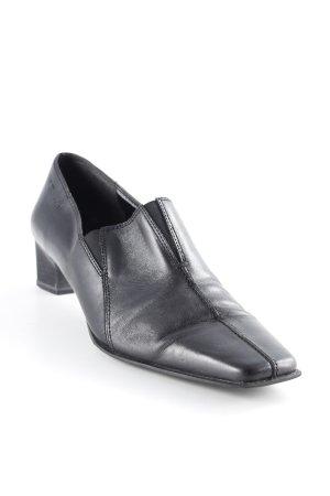 Tamaris Loafers zwart vintage uitstraling