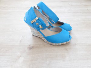 Tamaris türkise Riemchenpumps / Peeptoes/ Wedges Gr. 38