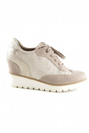Tamaris Wedge Sneaker braun-wollweiß Casual-Look