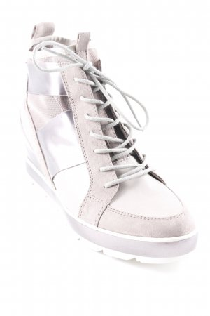Tamaris Wedge Sneaker graubraun-grau Metallic-Optik