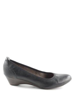 Tamaris Wedges Sandaletten schwarz-braun Business-Look