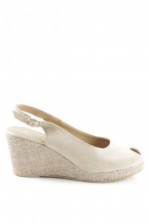 Tamaris Wedges Sandaletten creme-wollweiß Casual-Look