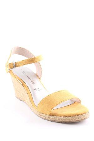 Tamaris Wedges Sandaletten beige-dunkelgelb Beach-Look