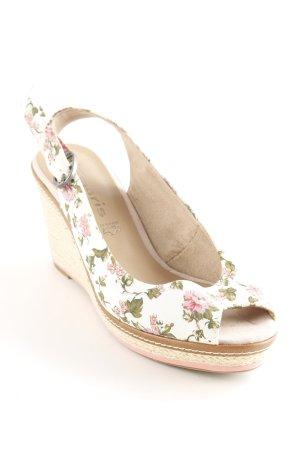 Tamaris Wedges Sandaletten Blumenmuster Romantik-Look