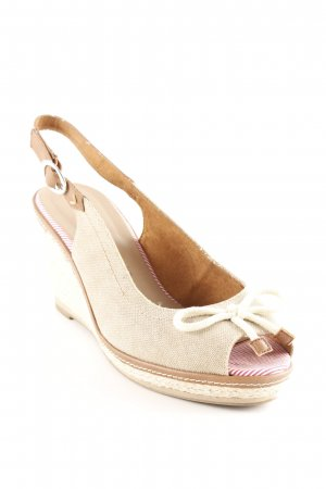 Tamaris Wedges Sandaletten camel-braun Casual-Look
