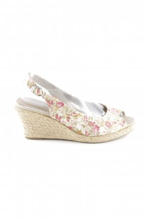 Tamaris Wedge Sandals floral pattern romantic style