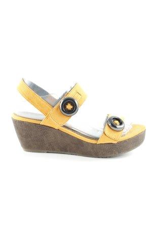 Tamaris Wedges Sandaletten goldorange Casual-Look