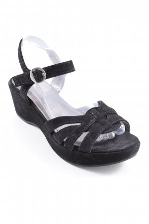 Tamaris Wedges Sandaletten schwarz Casual-Look