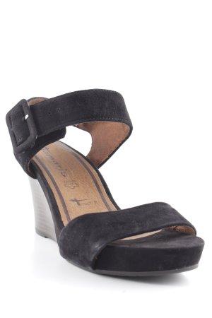 Tamaris Wedges Sandaletten schwarz Elegant