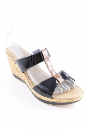 Tamaris Wedges Sandaletten schwarz-hellbraun Elegant