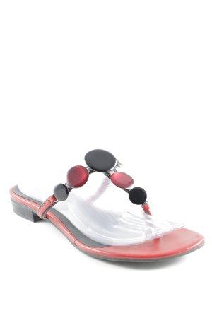 Tamaris Wedges Sandaletten schwarz-weiß Beach-Look