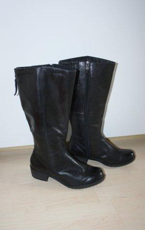 Tamaris Weitschaftstiefel Stiefel Größe 39 schwarz Lederstiefel neuwertig