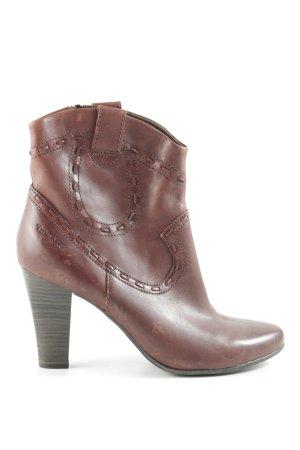 Tamaris Western Booties brown red country style