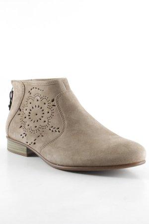 Tamaris Botines estilo vaquero marrón claro estampado floral estilo hippie