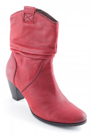 Tamaris Western Booties brick red country style