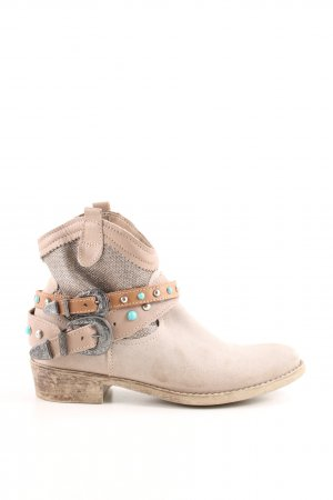 Tamaris Western Boots natural white casual look