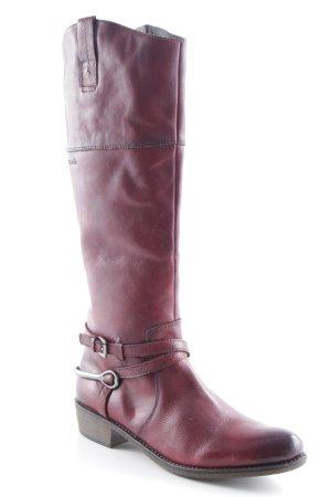 Tamaris Boots western rouge carmin style mode des rues