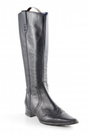 Tamaris Western Laarzen zwart zigzag patroon country stijl