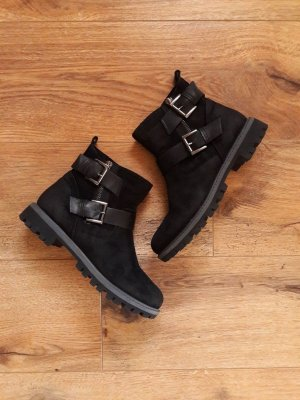 Tamaris Wildleder Stiefeletten Boots schwarz Gr. 37