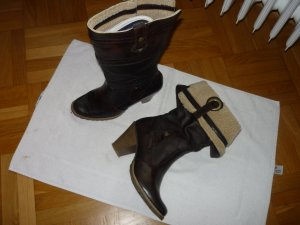 Tamaris Western Booties brown leather