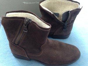 Tamaris Winter Stiefelette Wildleder braun Gr 40 Neu