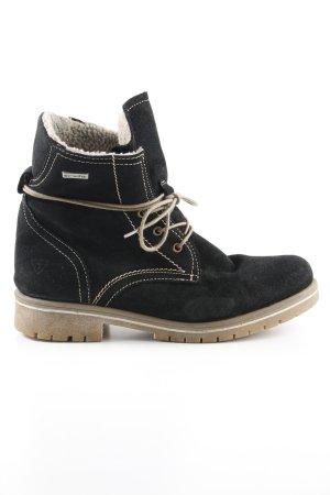 Tamaris Winter boots zwart-beige casual uitstraling