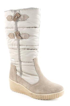 Tamaris Winterstiefel beige Materialmix-Look