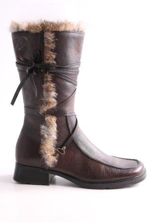 Tamaris Winter Boots brown-nude casual look