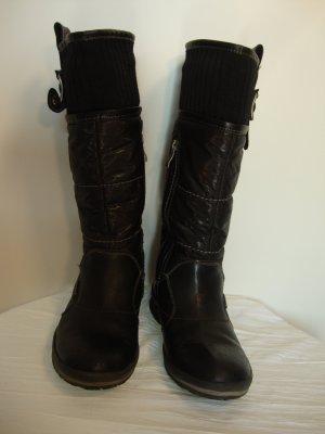 Tamaris Snow Boots black mixture fibre