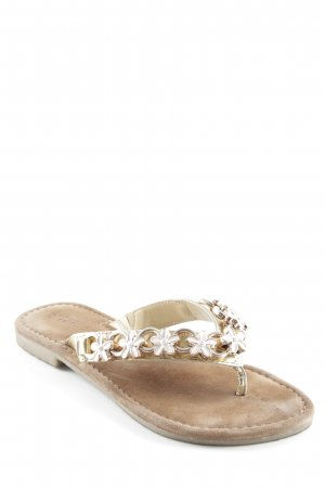 Tamaris High-Heeled Toe-Post Sandals gold-colored-light brown beach look