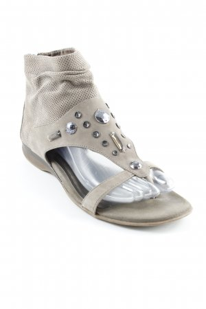 Tamaris High-Heeled Toe-Post Sandals green grey casual look