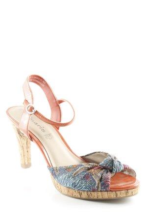 Tamaris Zehen-Sandaletten lachs florales Muster Casual-Look