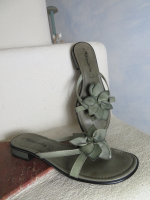 Tamaris Sandalias de tacón con talón descubierto gris claro-gris Cuero
