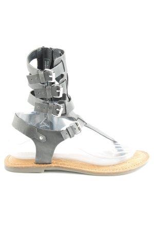 Tamaris Sandalo toe-post grigio scuro stile vintage