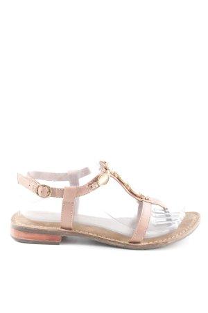 Tamaris Toe-Post sandals light brown-rose-gold-coloured beach look