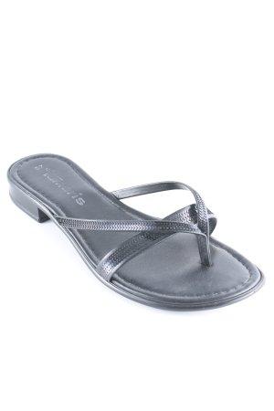 Tamaris Toe-Post sandals black elegant